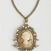 French Cameo So Chic Necklace by ModCloth