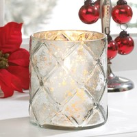 Small Quilted Hurricane Candle Lantern