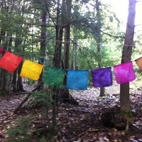 Prayer Flags - Silk and Hemp