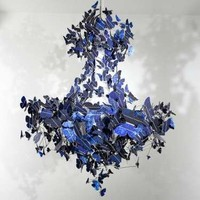 Solar-Powered Cobalt Lights - The Jeroen Verhoeven 'Butterfly Chandelier' is Stylish and Sustainable (GALLERY)