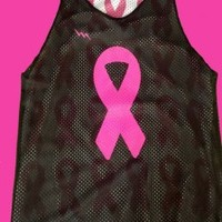 Cancer Ribbon Pinnies - Cancer Ribbon reversible jerseys - Girls Racerback Pinnies - West Chester Pennsylvania Pinnies