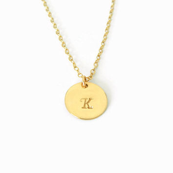 Monogram Initial Gold Necklace