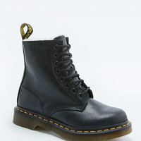 Dr. Martens Serena White Fur-Lined Boots - Urban Outfitters