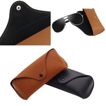 Relefree Durable Soft Leather Outdoor Sports Hiking Cycling Sunglasses Case Vintage Eyeglasses Storage Holder Retro Box Cases