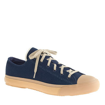 J.Crew Mens The Hill-Side Indigo Sashiko Sneaker In Panama Cloth