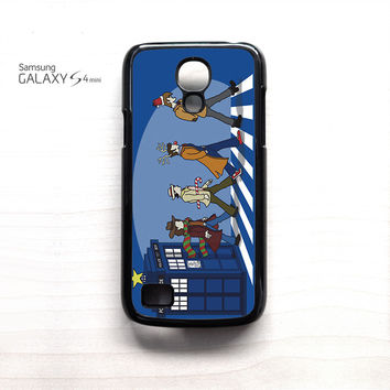Tardis Doctor Who The Beatles for Samsung Galaxy Mini S3/S4/S5 phone case