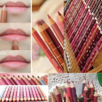 12 Pcs Lip Liner Set 15cm Long Lasting Makeup Pencil For Women Cosmetics