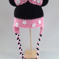 Minnie Mouse Hat - Crochet - Baby Minnie Mouse Hat - Kids Minnie Mouse Hat - Toddler Minnie Mouse Hat - Newborn Hat - Adult Minnie Mouse Hat