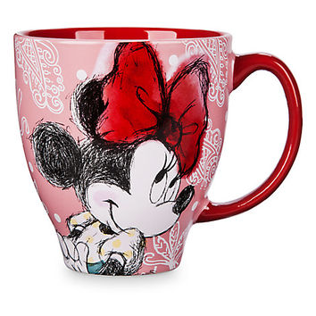 Minnie Mouse Pattern Mug | Disney Store