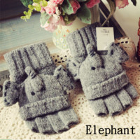 Cute Elephant Convertor Gloves Elephant