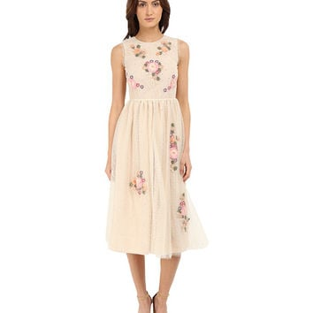 RED VALENTINO Floral Long Lace Dress