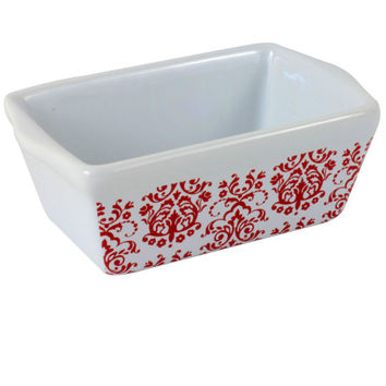Celebrate It® Ceramic Mini Loaf Pan, Damask
