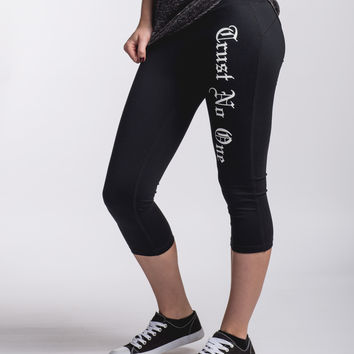 Women's Trust No One Capri Yoga Pants