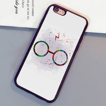 Harry Potter Glasses Pattern Mobile Phone Cases OEM For iPhone 6 6S Plus 7 7 Plus 5 5S 5C SE 4S Soft Rubber Skin Cover Shell OEM