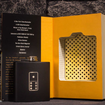 Hollow Book Safe & Hip Flask - The Book Thief featuring Black Domino Hip Flask '16
