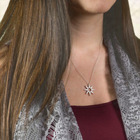 Art Deco Star Pendant Necklace - Jewelry Made in the USA. Holidays. Gift Ideas for Her. Customize with different sizes, metals and finishes
