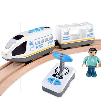 RC Electric Express Truck Magnetic Train With Carriage FIT Thomas wooden track Children Electric Toy Kids Toys