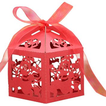 Laser Cut Hollow Out Candy Box Christmas Decorations