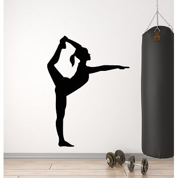 Vinyl Wall Decal Sport Girl Rhythmic Gymnastics Charge Stickers Mural (g437)