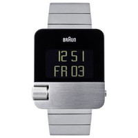 braun men's square digital 106 watch