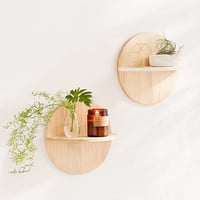 Calista Circle Wooden Shelf | Urban Outfitters
