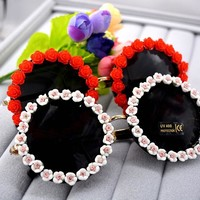 2017 Summer Style Women Sunglasses Bohemia Small Flower Boutique Sun Glasses Female  Vacation Party Beach Ladies sunglasses
