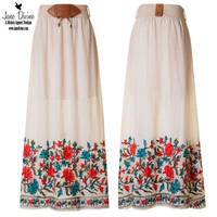 Floral Embroidered Maxi Skirt | Jane Divine Boutique