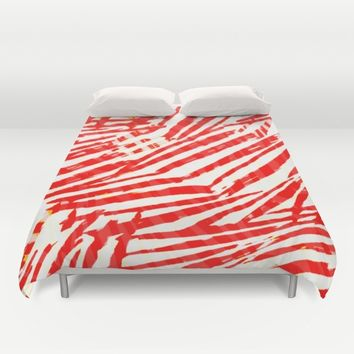 let's go a red blood trip Duvet Cover by hardkitty