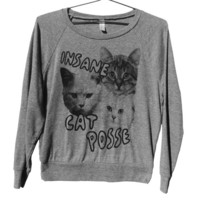 Insane Cat Posse Raglan WOMEN'S (ATTN: notate SIZE during checkout)
