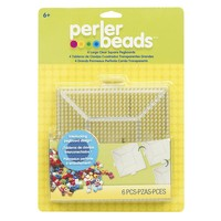 Perler Beads 4-piece Clear Pegboard Set (Parchment)