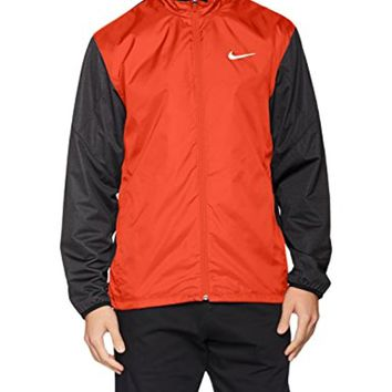 Nike Full Zip Shield Golf Jacket 2016 Max Orange/Black Heather/Black Medium