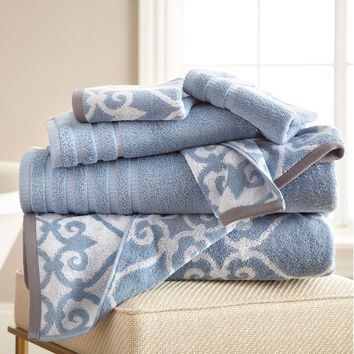 Pacific Coast Lattice Rod Towel Set - Bath Towels at Hayneedle