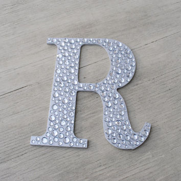 Sparkle Silver Bling Decorative Wall Letters Wedding Decor