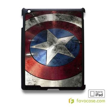CAPTAIN AMERICA Shield Avengers Marvel iPad 2 3 4 5 Air Mini Case Cover