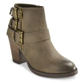 Women's Mossimo® Hartley II Buckle Ankle Boot