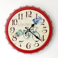 Innovative Vintage Style Wall Sticker Decoration Clock [6451856774]