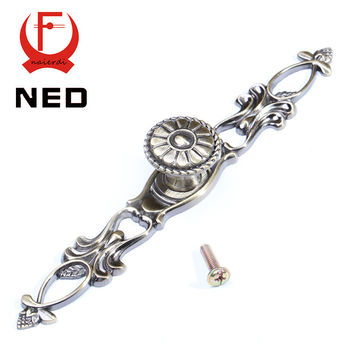 NED 220MM Retro Bronze Kitchen Handles Door Cupboard Zinc Alloy Cabinet Knobs European Wardrobe Furniture Handle Drawer Pulls
