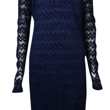 "Guess Women's ""Uma"" Chevron Textured Chevron Lace Dress"