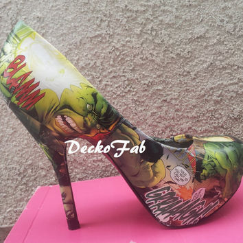 The Incredible Hulk High Heel Pumps