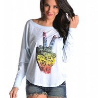 Roses Peace Hand Tee by Signorelli, Tees by Signorelli, Signorelli