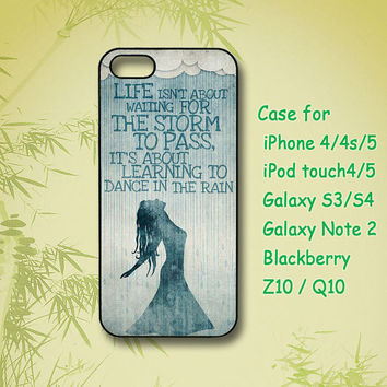 Samsung Galaxy S4 case - Dance in the Rain, Samsung Galaxy S3 case, Samsung Galaxy note 2 case, iPhone 4 Case, iPhone 5 Case, Phone case