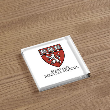 Harvard Medical School Acrylic Paperweight