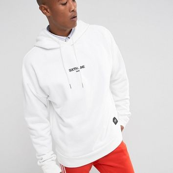 Sixth June Oversized Hoodie In White With Logo at asos.com