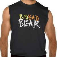 Big Bad Bear Text Only Gay Bear Tshirt