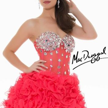 Embellished Strapless Sweetheart Dress by Mac Duggal Homecoming