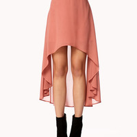 High-Low Chiffon Skirt