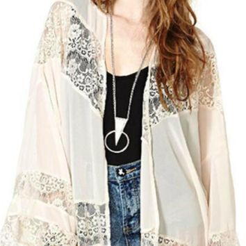 Boho Loose Lace  Kimono (Multiple Colors)
