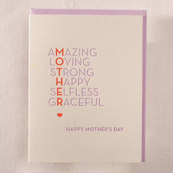 Amazing Mother's Day Card