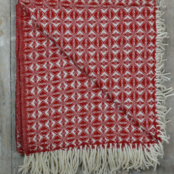 Lifestyle New Wool Blanket in Red Cobweave