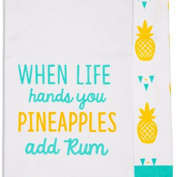 When life hands you pineapples add rum Tea Towel Gift Set